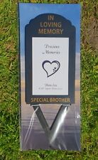 Brother Grave Memorial Ornament Remembrance Spike Photo Frame Holder brother