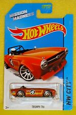 2014 Hot Wheel's CITY #4/4 Triumph TR6 - Mission Madness