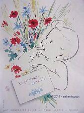 PUBLICITE NESTLE BEBE AU PRINTEMPS DE LA VIE LAIT FARINE BABY DE 1954 FRENCH AD