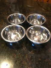 Lot of 4 Test Rite Standard Stainless Steel Pet Bowls, 1/2-Pint NEW