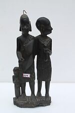 Old Rose Wood Hand Carved Decorative African Man Women Couple Figurine NH1400