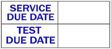 10 X Quantité 70X30MM Service / Test Due Date - Autocollant Coach Psv Hgv Taxi