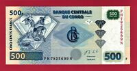 2013 CONGO UNC 500 FRANCS NOTE P-96b PRINTER Giesecke & Devrient (G&D) Germany
