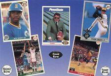 "FRONT ROW ""oddball""  PROMO CARD - Ken Griffey Jr., Larry Johnson, Joe Paterno"