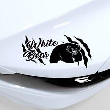 White Bear Aufkleber Car Sticker Tuning Decal White 19x10 cm OBV