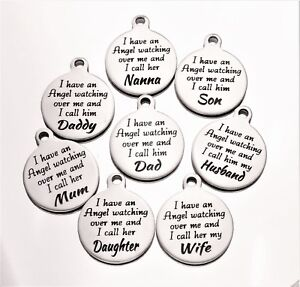 Message Charms  * many others * I have an angel Engraved jewellery making disc 0