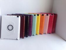 Apple Ipad 2/3/4 croc style tablet case white, black, brown, red, pink, yellow