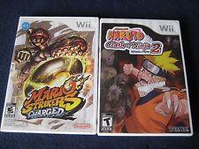 Nintendo Wii Games ~Mario Strikers Charged & Naruto Clash Of Ninja Revolution 2~