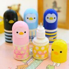Cute Chick Print Plastic Correction Fluid Corrector Tape Office School Supplies