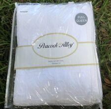 PEACOCK ALLEY Queen Coverlet Shams Set  BLANKET Tassel Fridge Matelasse White
