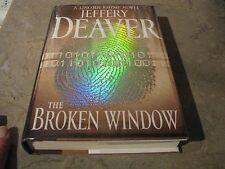 BROKEN WINDOW JEFFERY DEAVER SIGNED TITLE PAGE NEAR FINE  TRUE 1ST PRINTING