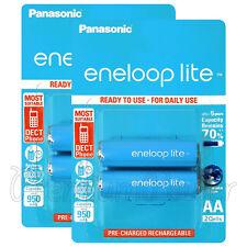 4 x Panasonic eneloop LITE AA 950mAh batteries Ni-MH Rechargeable HR6 BK-3LCCE