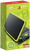 Nintendo 2DS LL Japanese game Console System Black x Lime JAPAN F/S NEW