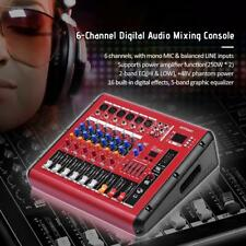 ammoon 6-Channel Audio Mixer Mixing Console with Power Amplifier Function G0F4