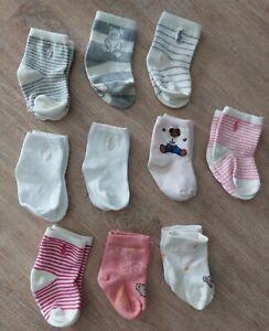 10x Ralph Lauren Steiff Baby Socken Mädchen Gr. 13 - 14 Rosa NEUw