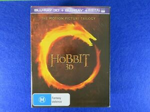 The Hobbit Trilogy 3D - Blu Ray - Free Postage !!