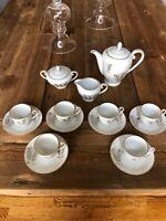 Fukagawa Arita Tea Service 17 Pieces Porcelain Handpainted Made In Japan #901