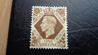 Großbritannien, Stamps, 1937, SG 211x, 1 Shilling, König Georg VI, gest.