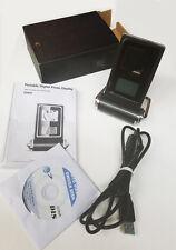 "NEW USB PORTABLE DIGITAL PHOTO ALBUM FRAME W/ 1.4"" LCD DISPLAY & CLOCK/CALENDAR"