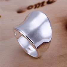 Unique & Elegant Pure 925 Sterling Silver Charms Ring Size: 8 #017-Q