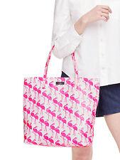 kate spade new york daycation flamingo bon shopper pink white cruise bird tote