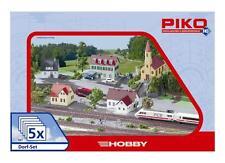 """Piko 61925 H0 Gebäude Set """"Dorf"""" (2x Haus 1x Dorfkirche 1x Laden 1x Gasthaus)"""