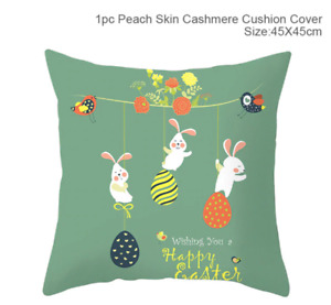 Happy Easter Decoration For Home Easter Rabbit Eggs Pillowcase Bunny Easter