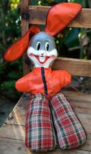 Vintage Rabbit Doll Stuffed Toy Mask Face Cloth Body 1950s