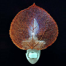 Rose Lady - iridescent copper Aspen Leaf night light - #RL-NL-840I