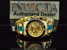 NWT Invicta Men's 44mm Hammerhead Shark Pro Diver Gold Tone SS Bracelet Watch