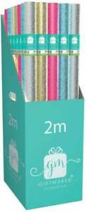 BUY2GET1FREE 1.5M HOLOGRAPHIC/GLITTER COLOURWASH ROLLWRAP/WRAPPING PAPER 3 pk