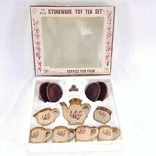 Summco Stoneware Toy Tea Children Kids Set 12 Pieces Original Box Vintage
