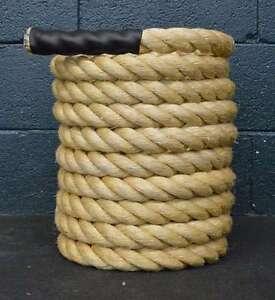 "50 Ft x 1.5"" Manila Battle Rope CrossFit MMA Battling Strength Boot Camp"