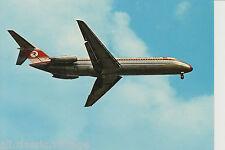 Postcard 07 - Plane/Aviation DC 9 Turk Hava Yollari Turkish Airlines