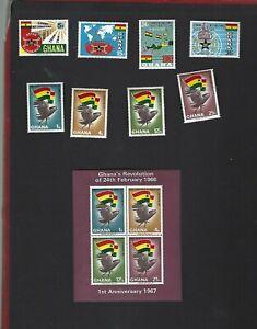 Ghana sc#269-76 #276a Souvenir Sheet (1967) Complete MLH