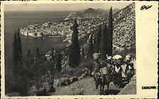 Dubrovnik Ragusa Kroatien s/w Postkarte 1938 gelaufen Blick von den Berge Esel