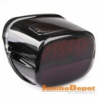 Smoke Lens LED Taillight w/License Plate Lamp For Harley Dyna Softail Touring XL