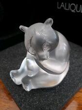 Lalique Panda Figure Clear , Lalique Motif Panda 1205200 BNIB ! Gift Idea !!!