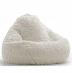Bean bag fur cover Comfortable sofa chair without Bean White for a luxury Home