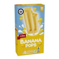 Coles Banana Pops 10 pack 700mL