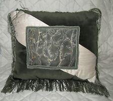 Pillow Fringed Silk and Cotton Velveteen
