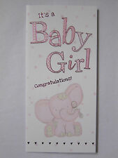 ITS A BABY GIRL CONGRATULATIONS A GIFT FOR YOU MONEY WALLET GREETING CARD