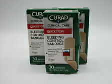 """3 Pack Curad Clinical Care Quick Stop Bleeding Control Bandages 30 ct .75""""x2.83"""""""