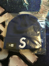 2017 F/W Supreme S Logo Beanie ROYAL Blue Rare Brooklyn Box Logo NYC