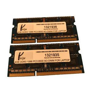 8GB 2X4GB Memory RAM 4 Lenovo Thinkpad T400 2764 2765 2766 2767 2768