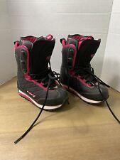 Roxy Snowboard Boots Size 6 Black W/pink