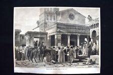 Cola da Rienzi, quadro di Querci Dario Incisione del 1876