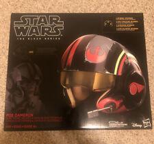 Star Wars Black Series Poe Dameron Electronic X-Wing Pilot Helmet TRUSTED SELLER