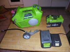 Stichsäge und Kompressor mit Akku - green works