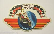 ADESIVO MOTO anni '80 / Old Sticker FANTIC MOTOR RACING TEAM CROSS (cm 12 x 7)